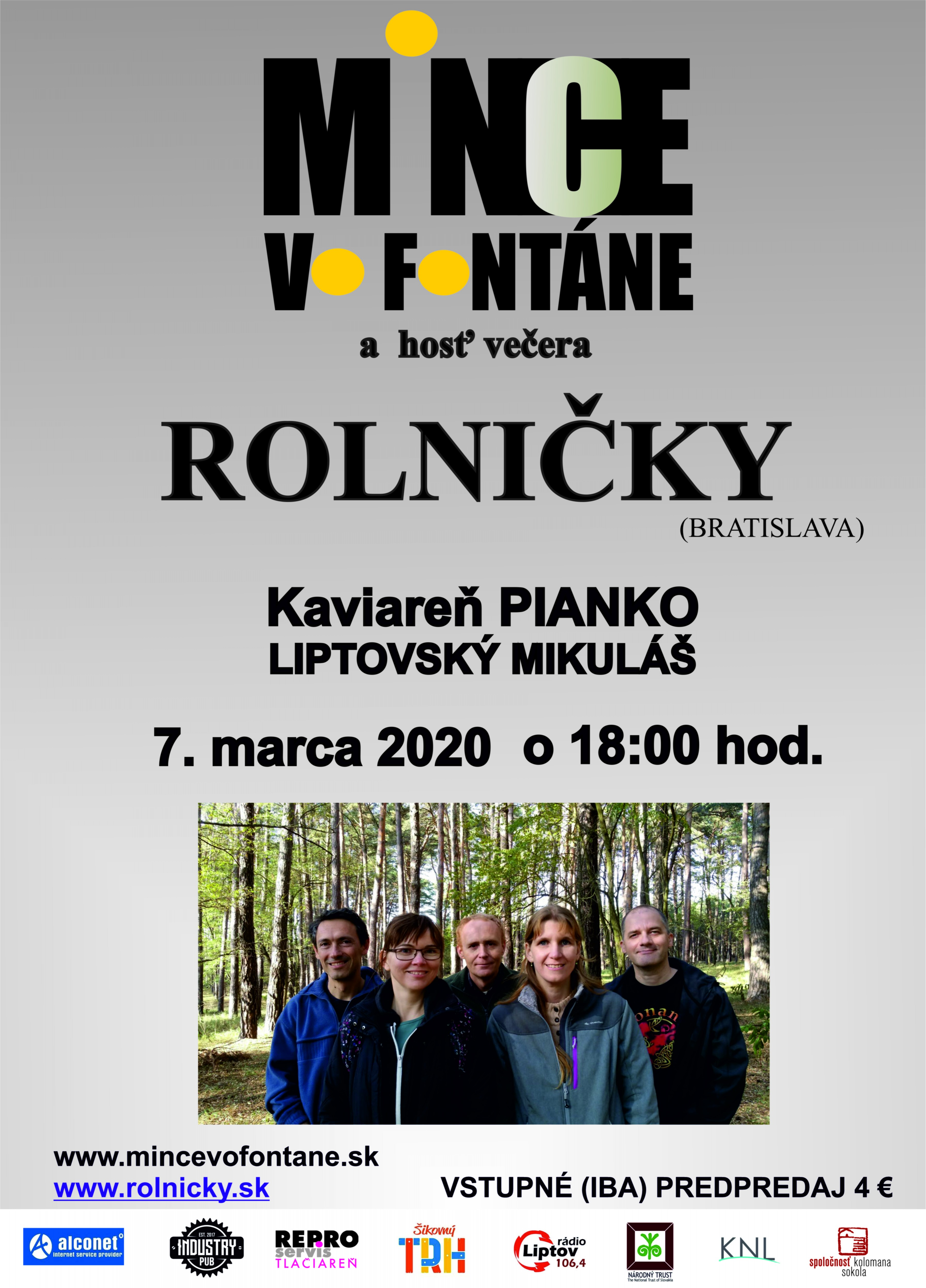 Akustický dvojkoncert s kapelou Rolničky (BA) v Piánku